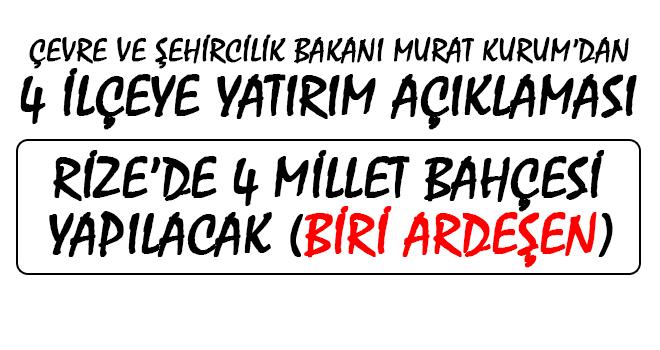 Çevre ve Şehircilik Bakanı Murat Kurum Rize'de
