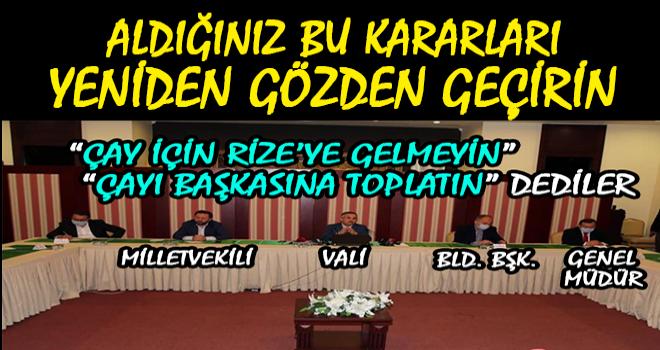 CHP Rize: Kararı Yeniden Gözden Geçirin