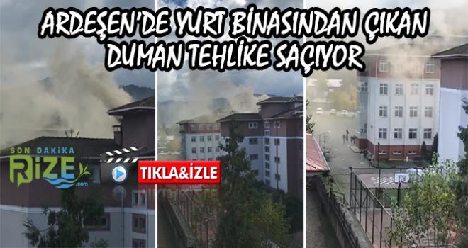 Ardeşen'de Bacadan Çıkan Duman Tehlike Saçıyor