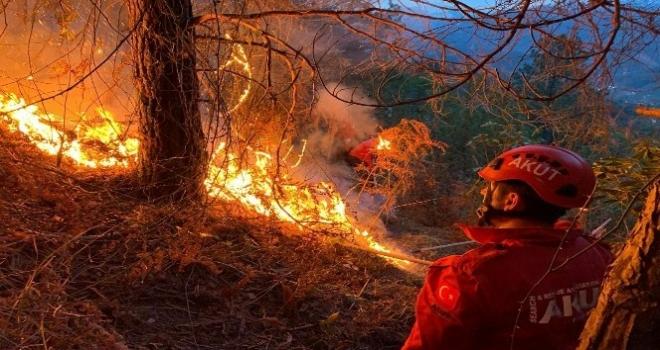 Ardeşen ve Pazar'dan Sonra Fındıklı'da Yangın
