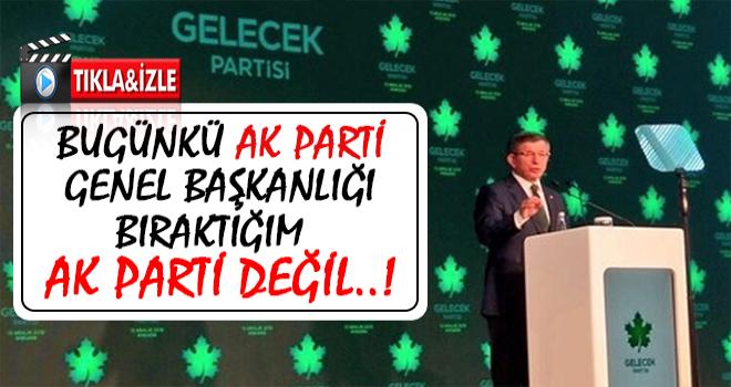 Davutoğlu: İhanetle Suçlayan AK Partili'lere Sesleniyorum