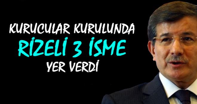 Ahmet Davutoğlu'nun Partisindeki 3 Rizeli İsim
