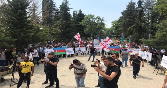 Gürcistan'daki Türklerden Azerbaycan'a Destek