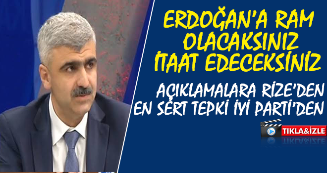 Rize İyi Parti'den Mustafa Albayrak'a Sert Tepki