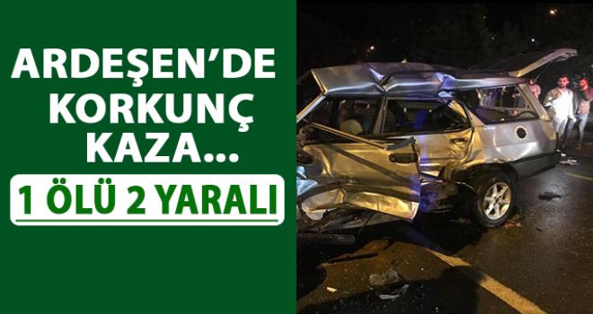 Rize'de Korkunç Kaza: 1 Ölü 2 Yaralı