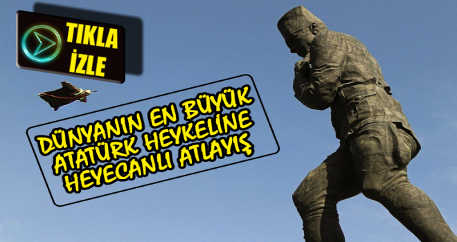 Artvin Atatürk Heykelinde Adrenalin Dolu Anlar