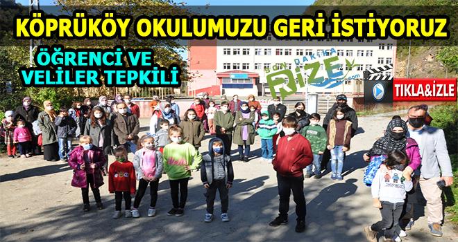 Köprüköy Ortaokulu'nda Öğrenci ve Velilerden Tepki