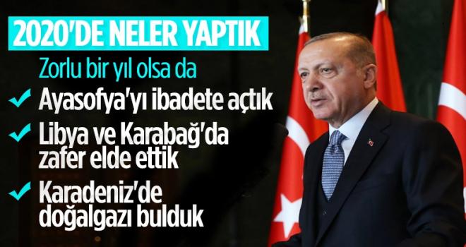 Cumhurbaşkanı Erdoğan 2020 Yılını Değerlendirdi