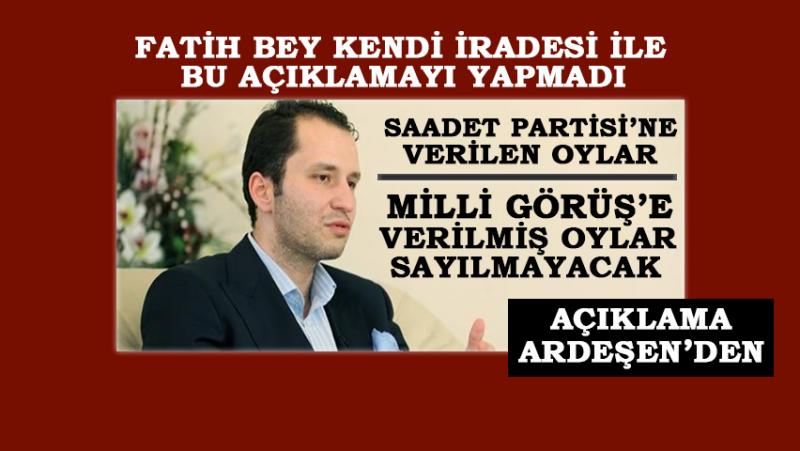 SP Ardeşen İlçe Başkanından Fatih Erbakan'a Tepki