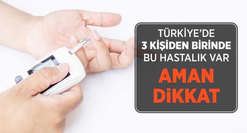 Türkiye'de Her Üç Kişiden Birinde Gizli Şeker Var